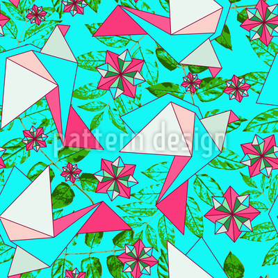 Origami Vögel Im Paradies Musterdesign