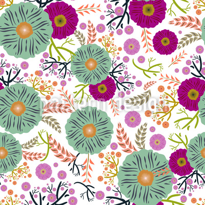 Floral Illusion Vector Pattern