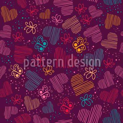 Universum Der Schmetterlinge Und Herzen Vektor Design