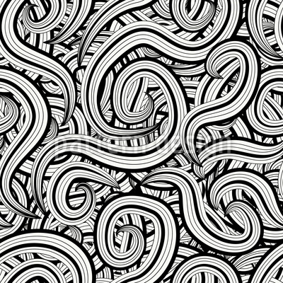 A Curlicue Mess Repeating Pattern
