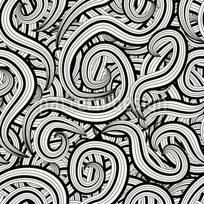 Ein Schnörkel Chaos Rapportiertes Design