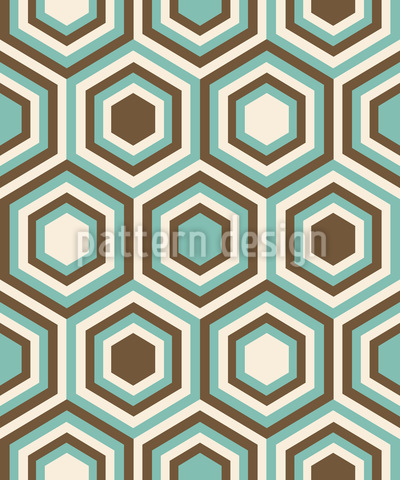 Retro Honeycombs Design Pattern