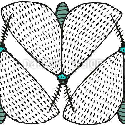 Motten Am Tage Nahtloses Vektor Muster