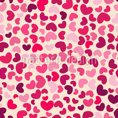 So Viele Herzen Nahtloses Muster