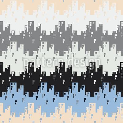 Zigzag Cities In Winter Vector Design