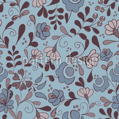 Folklore Blumen Nostalgie Rapportmuster