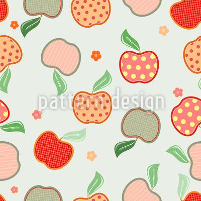 Leckeres Apfel Patchwork Musterdesign