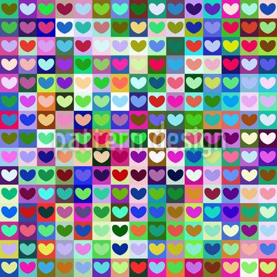 Herz Nationen Nahtloses Muster