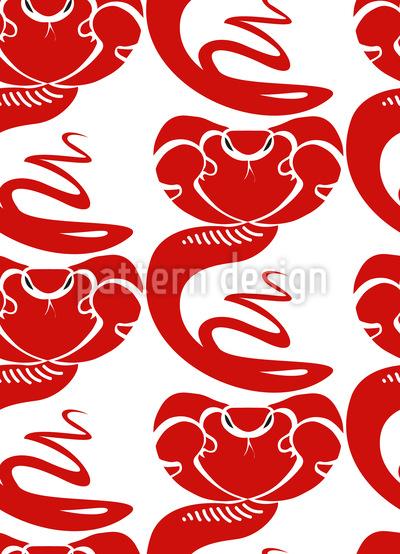 King Cobra Seamless Pattern