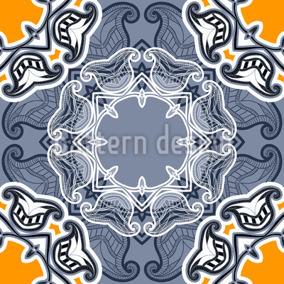 Winter Sun Floral Pattern Design