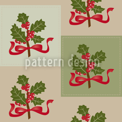 Preppy Holly Vector Ornament