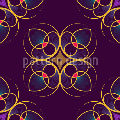 We See Floral Signs Vector Pattern