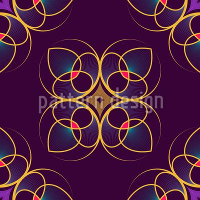 Wir Sehen Florale Erscheinungen Vektor Muster
