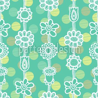 Blumengirlanden Auf Punkten Muster Design