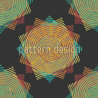 Fingerprint Stars Pattern Design