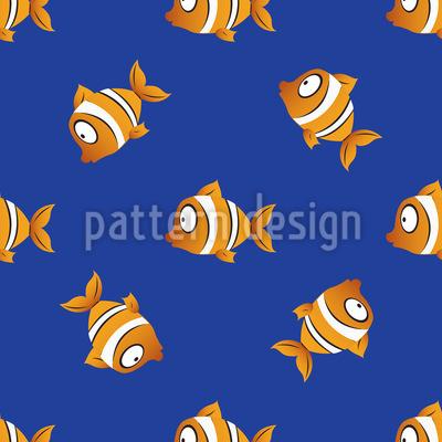 Clownfische Bei Nacht Vektor Muster