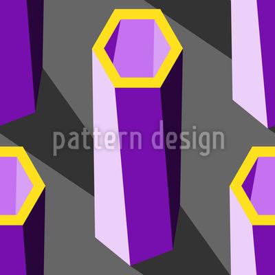 Hexagon Pillars Repeating Pattern