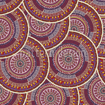 Ethno Mandalas Repeat Pattern