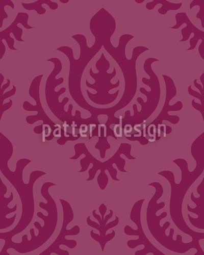 Purpur Barock Rapportiertes Design
