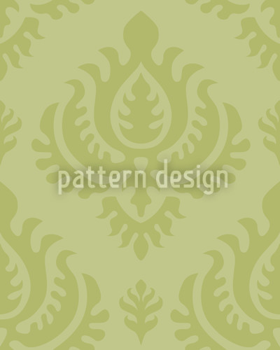 Green Baroque Repeat Pattern