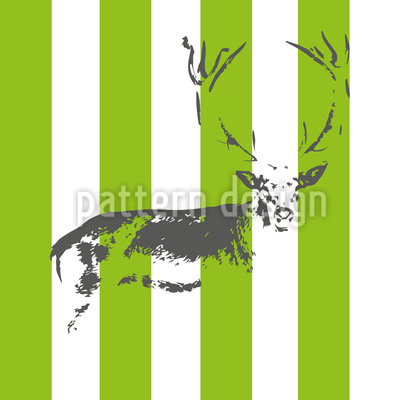 Deer In The Stripe Forest Design Pattern