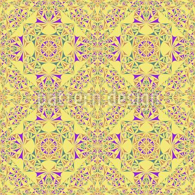 Kaleidoskop Im Frühling Vektor Ornament