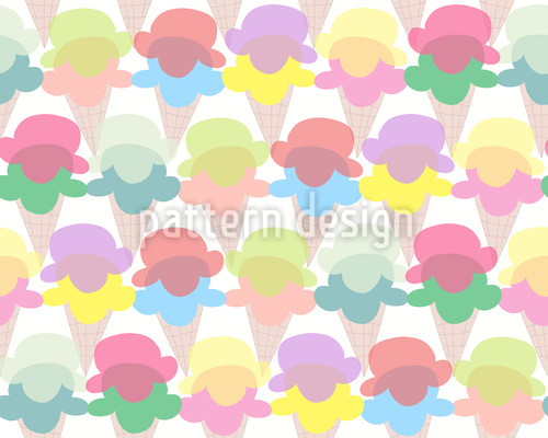 Ice Cream For All Vector Pattern