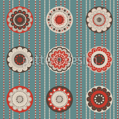 Floral Cafe Boheme Repeating Pattern