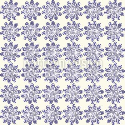 Stencil Florets Design Pattern