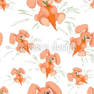Häschen Lieben Karotten Vektor Ornament