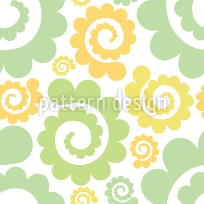 Spiralen Im Frühling Musterdesign