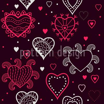 Ich Sehe Herzen Nahtloses Muster