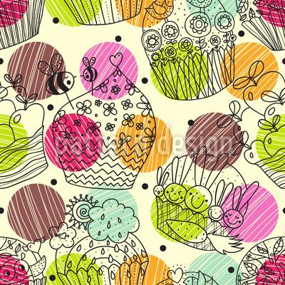 Cup Cake Fantasies Repeating Pattern