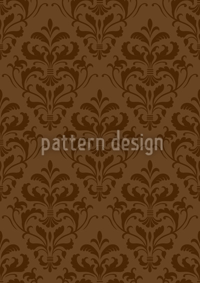 Chocolate Baroque Vector Pattern