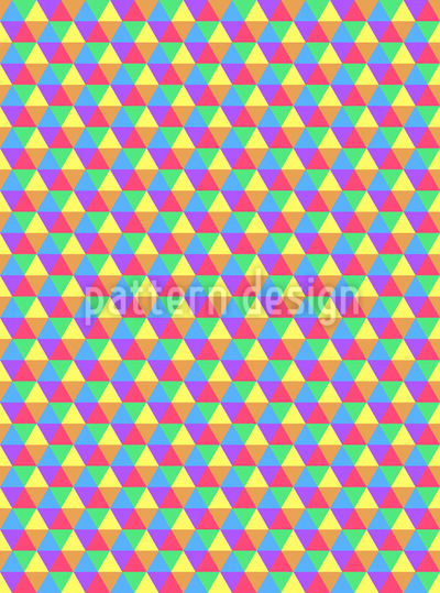Sommerliche Hexagons Vektor Ornament