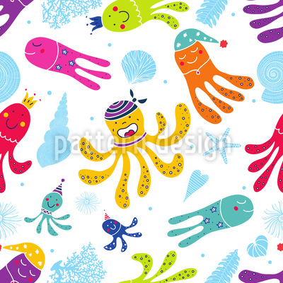 Carnival Of The Octopus Repeat Pattern
