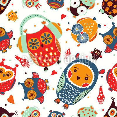 Owl Exhibition Pattern Design