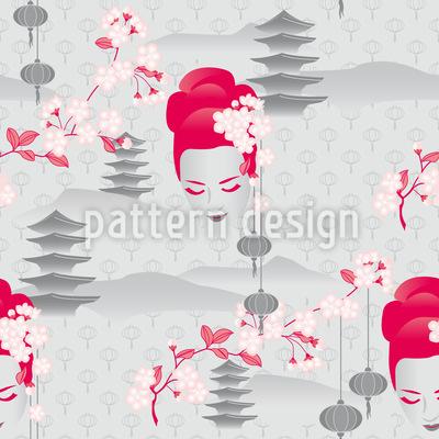Kirschblüten Geisha Rapportmuster