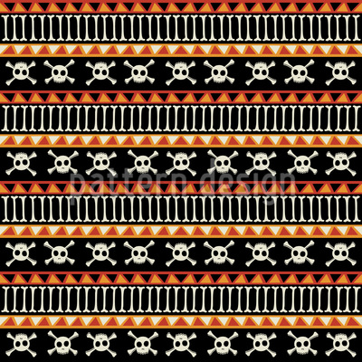 The Dead Ethno Pirates Pattern Design