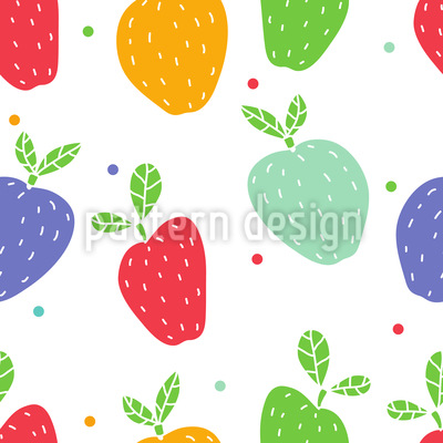 Äpfel Auf Punkten Vektor Muster