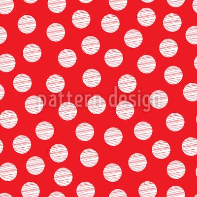 Striped Polkadots Seamless Vector Pattern