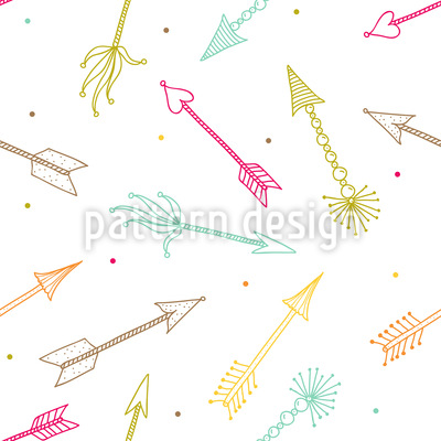 Amors Dart Pfeile Rapportiertes Design