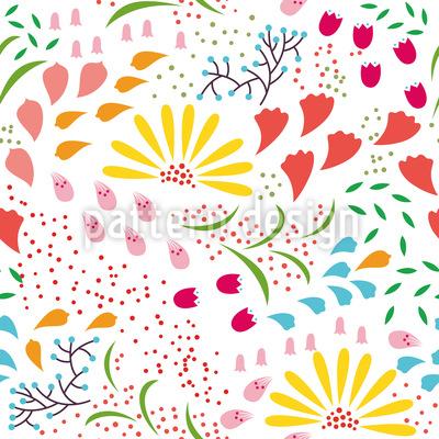 Zauberhafte Blüte Rapportmuster