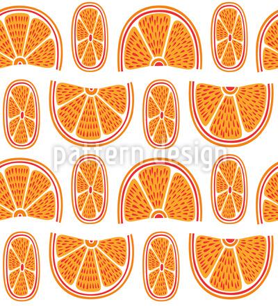 Saftige Orangen Muster Design
