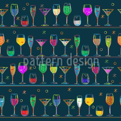 Cocktails Vector Pattern