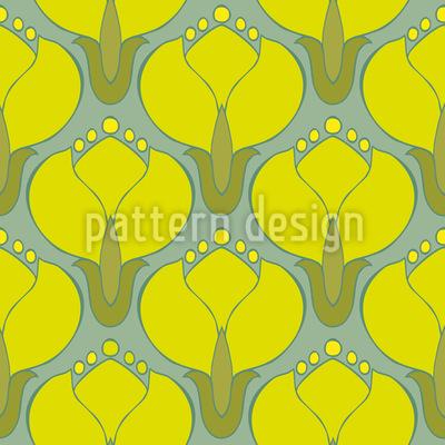 Blühende Kornelkirschen Rapportiertes Design