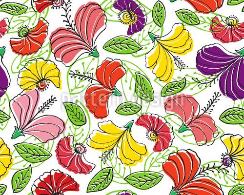 Paradise flowers fantasy Repeat Pattern