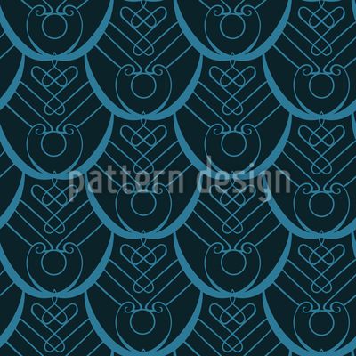 Pfauenfeder Deco Nahtloses Muster