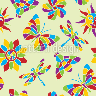 Mosaik Des Sommers Vektor Design