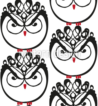 Owl Governess Repeat Pattern